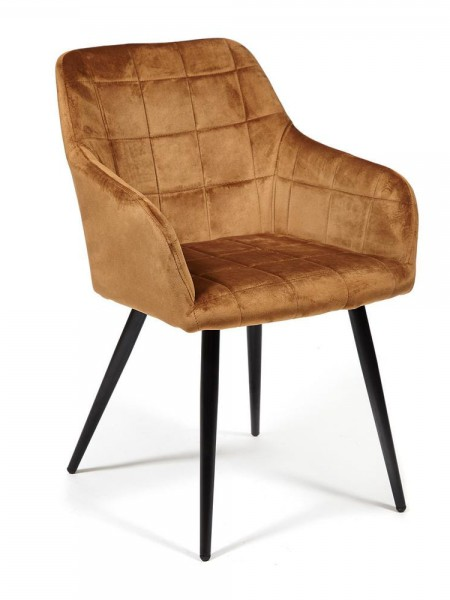Кресло BEATA металл/ткань Коричневый, 56х60х82 см