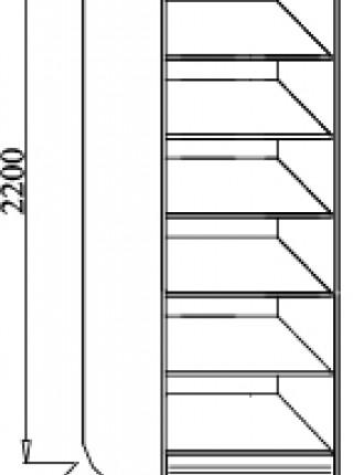 Шкаф 2-ух створчатый Венеция В-07